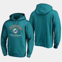 Männer Miami Dolphins Futbol Americano PulloverHoodie - Aqua