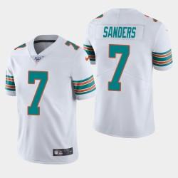 Männer Miami Dolphins & 7 Jason Sanders 100. Saison Vapor Limited Jersey - Weiß