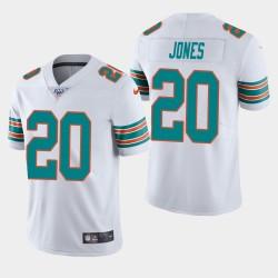 Männer Miami Dolphins & 20 Reshad Jones 100. Saison Vapor Limited Jersey - Weiß