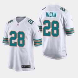 Männer Miami Dolphins & 28 Bobby McCain Throwback Spiel Jersey - Weiß