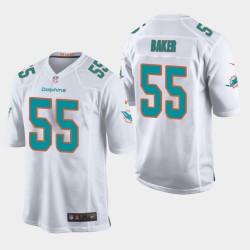 Männer Miami Dolphins & 55 Jerome Baker 2018 NFL Draft Spiel Jersey - Weiß