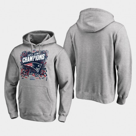 Herren New England Patriots Super Bowl LIII Champion Trophy PulloverHoodie - Grau