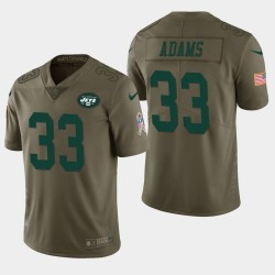 Männer New York Jets und 33 Jamal Adams Salute to Service Limited Jersey - Olive