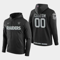 Männer Oakland Raiders & 00 individuell gestaltete New Season Spieler PulloverHoodie - Schwarz