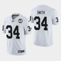 Männer Oakland Raiders & 34 Rod Smith 60th Anniversary Vapor Limited Jersey - Weiß