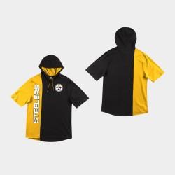 Männer Pittsburgh Steelers Split Shortsleeve Hoodie - Schwarz