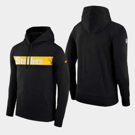 Männer Pittsburgh Steelers-Team Sideline Performance-PulloverHoodie - Schwarz