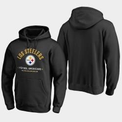 Männer Pittsburgh Steelers Futbol Americano PulloverHoodie - Schwarz
