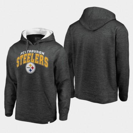 Männer Pittsburgh Steelers Stetig Fleece Pullover Hoodie - Grau Weiß