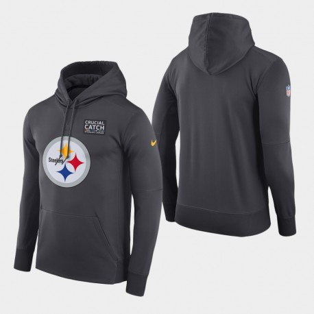 Männer Pittsburgh Steelers Crucial Fang PulloverHoodie - Anthrazit
