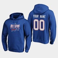 Männer Buffalo Bills Individuelle 2019 NFL Playoffs Bound Heimatstadt Checkdown PulloverHoodie - Königs