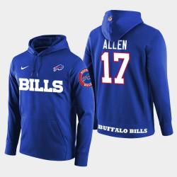 Männer Buffalo Bills # 17 Josh Allen New Season Spieler PulloverHoodie - König