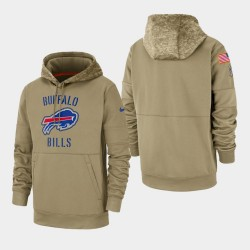Männer Buffalo Bills Tan 2019 Salute to Service-Sideline Therma PulloverHoodie