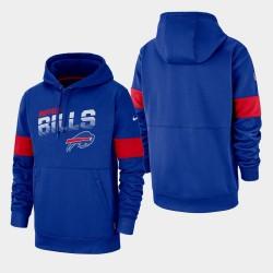 Männer Buffalo Bills 100. Saison Sideline-Team-Logo PulloverHoodie - Königs