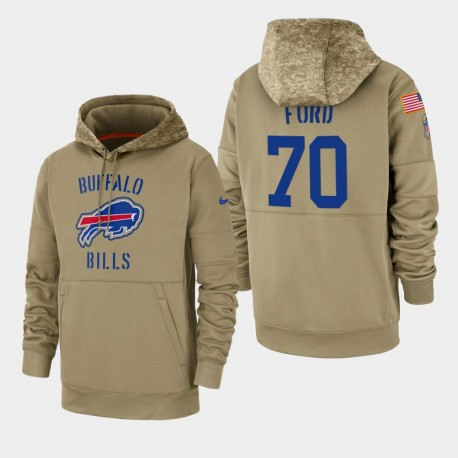 Männer Cody Ford Buffalo Bills 2019 Salute to Service-Sideline Therma PulloverHoodie - Tan