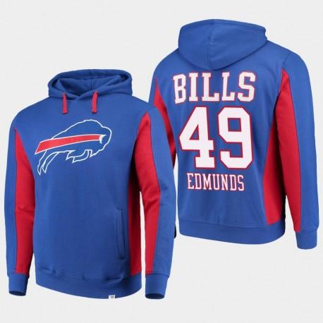 Fanatics gebrandmarkte Männer Buffalo Bills & 49 Tremaine Edmunds-Team Iconic PulloverHoodie - König