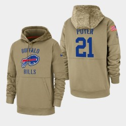Männer Jordan Poyer Buffalo Bills 2019 Salute to Service-Sideline Therma PulloverHoodie - Tan