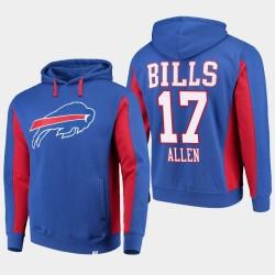 Fanatics gebrandmarkte Männer Buffalo Bills # 17 Josh All Teams Iconic PulloverHoodie - König