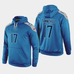 Männer Tennessee Titans und 17 Ryan Tannehill 100. Season Spiel Hoodie - Light Blue