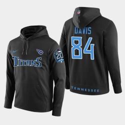 Männer Tennessee Titans und 84 Corey Davis 20th Anniversary Patch-PulloverHoodie - Schwarz
