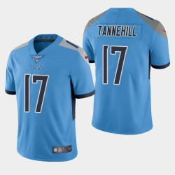 Männer Tennessee Titans und 17 Ryan Tannehill 100. Saison Vapor Limited Jersey - Light Blue