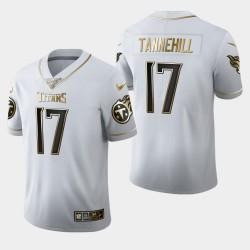 Männer Tennessee Titans und 17 Ryan Tannehill 100. Saison Golden Edition Jersey - Weiß