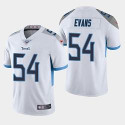 Männer Tennessee Titans und 54 Rashaan Evans 100. Saison Vapor Limited Jersey - Weiß