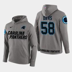 Männer Carolina Panthers # 58 Thomas Davis Sr. New Season Spieler PulloverHoodie - Grau