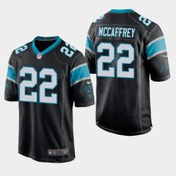 Männer Carolina Panthers & 22 Christian McCaffrey Spiel Jersey - Schwarz